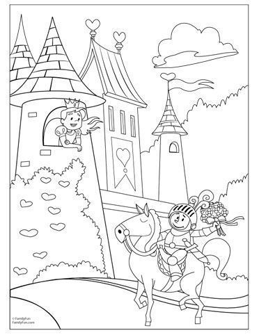 Fairy Tale Castle Pages Coloring Pages