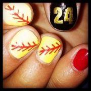 ideas softball nails