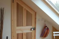 Internal door angled to match sloping ceiling | Jojo's ...