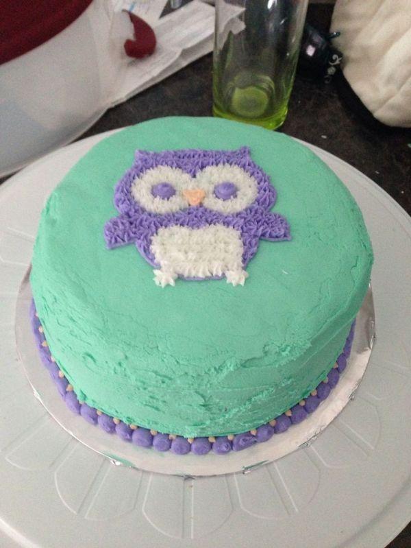 Wilton course 1 lesson 2 Owl cake   cake   Pinterest   Owl ...