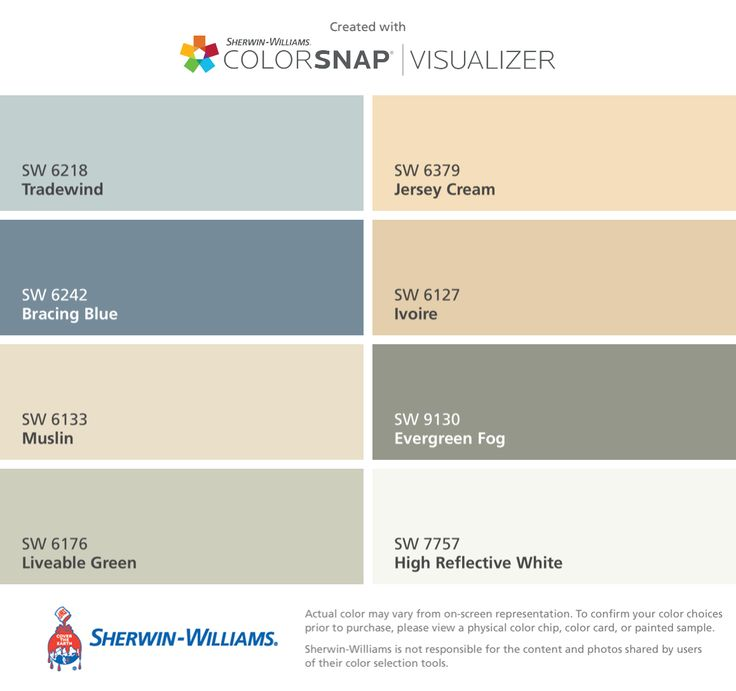 I found these colors with ColorSnap Visualizer for iPhone by SherwinWilliams Tradewind SW