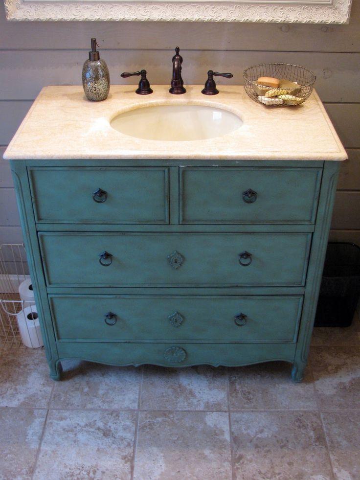 25 best ideas about Dresser bathroom vanities on