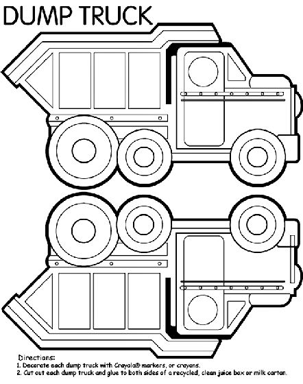 Dump Truck Box coloring page because I have a client
