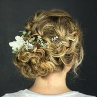 25+ best ideas about Curly bun hairstyles on Pinterest ...