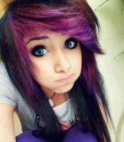 purple emo hair styles