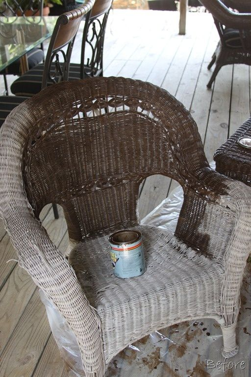 Painting wicker furniture  Crafty ideas  Pinterest