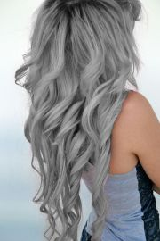 silver hair - google
