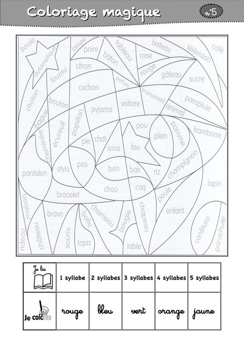 18 best images about coloriage chiffre on Pinterest