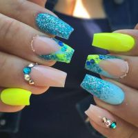 25+ best ideas about Neon nails on Pinterest | Matt nails ...