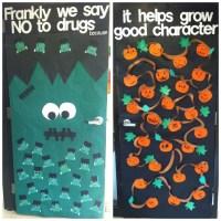 Front and back door decorations: Students artwork, drug ...