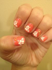 Hibiscus Nails! for Hawaii | nails | Pinterest | Nice ...