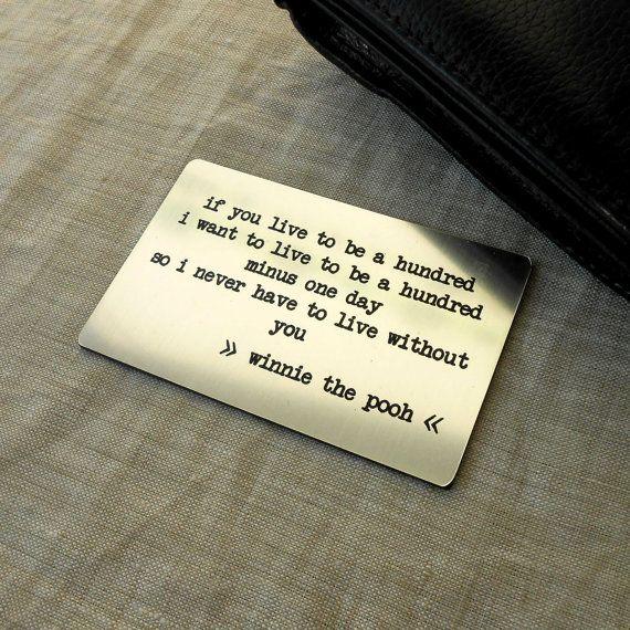 Engraved Wallet Insert Card Custom Wallet Insert Card
