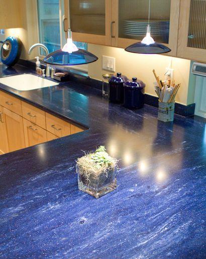 Corian Elderberry Looks Quite Striking In This Kitchen