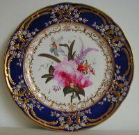 Antique Coalport Porcelain Plate painted by Thomas ...