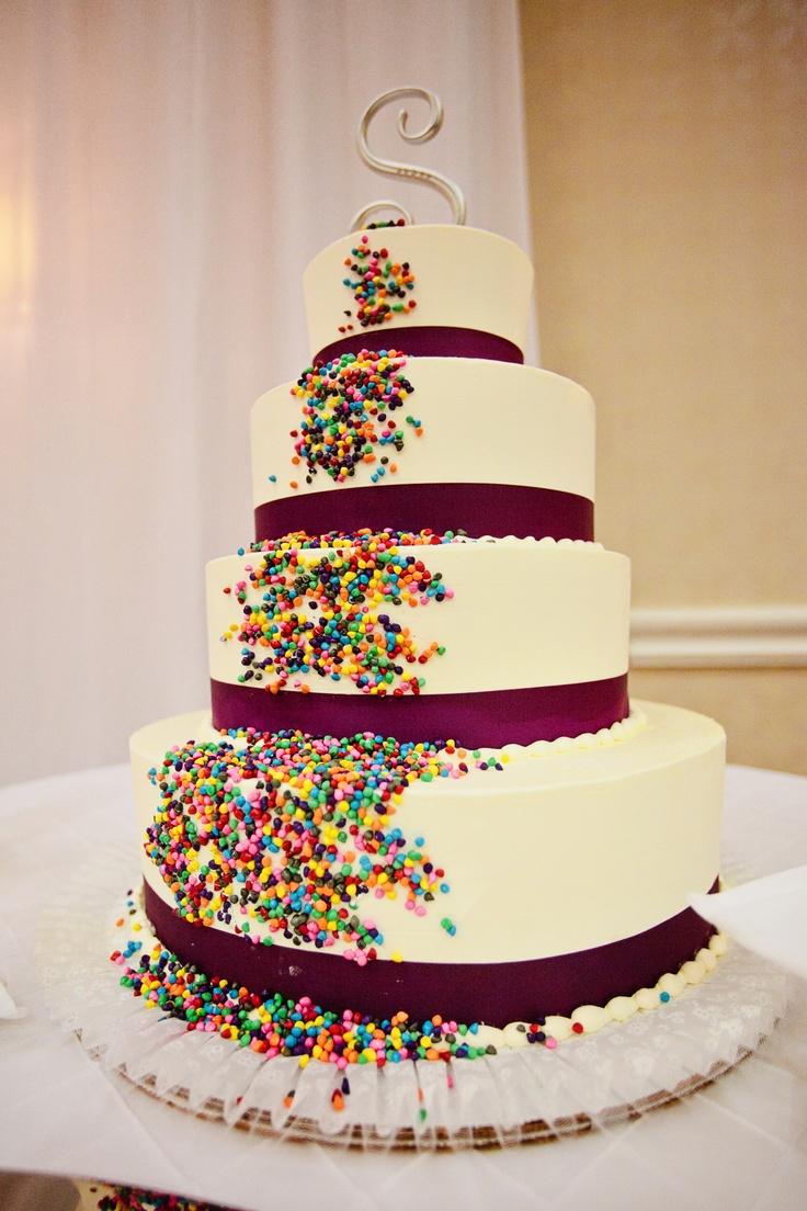 nontraditional wedding cake   Wedding Inspirations  Pinterest  Traditional Rainbow