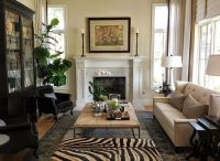 Traditional, but far from boring, this living room ...