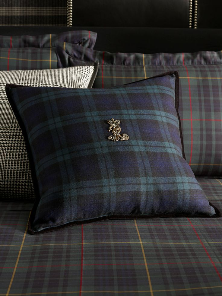 Fletcher Cashmere Throw Pillow  Ralph lauren Black