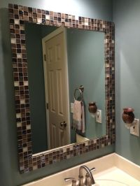 25+ best ideas about Tile Mirror Frames on Pinterest