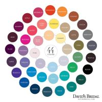 david's bridal color chart | Taylor's Wedding | Pinterest ...