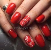 ideas red nail art
