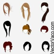 cartoon hair - reverse