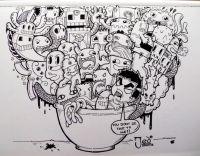 Doodle Cup by DOANGELO by RockyVillaruel.deviantart.com on