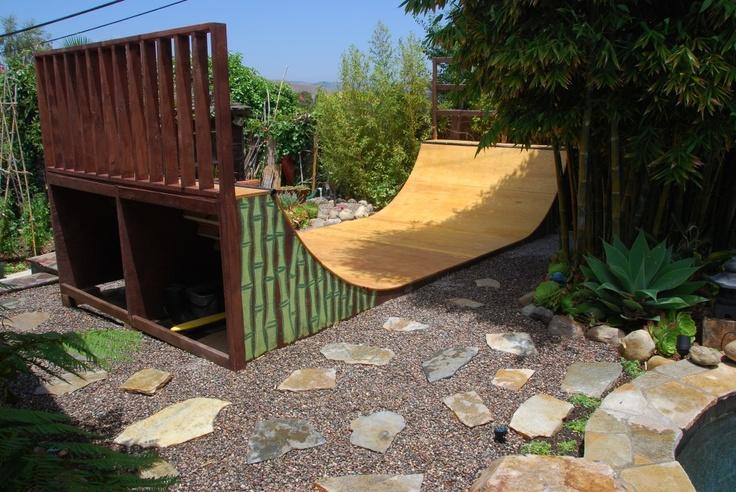 Backyard Half Pipe Skate Ramp Design That Actually Looks