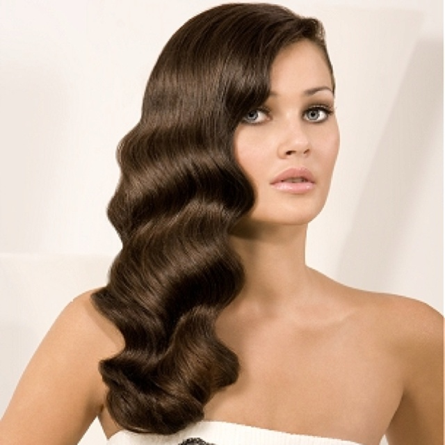 Long Glamorous Finger Wave Curls For Bride I Do! Pinterest