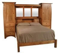 king size bed wall unit storage | For rich | Pinterest ...