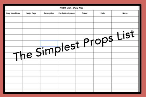 Free Theater Templates To Download Props List Acting