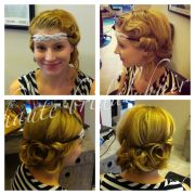 updo 1920's retro vintage hair
