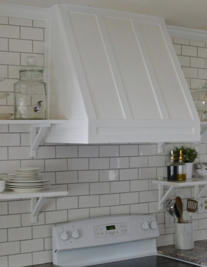 kitchen exhaust vent cover napa style island | diy range hood http://lovethetompkins.com get ...