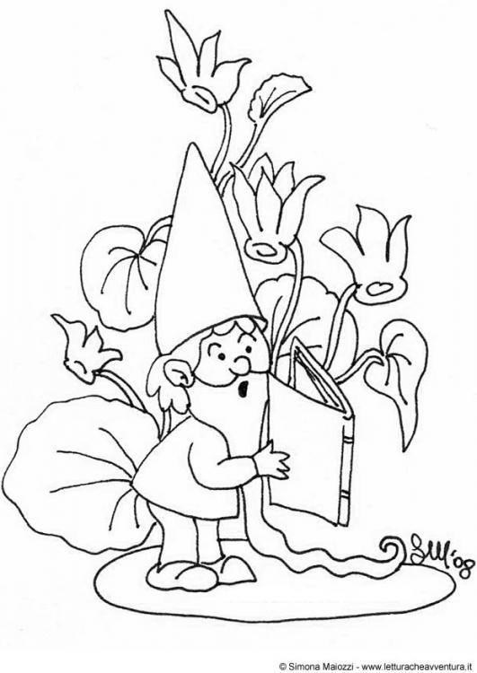 102 best images about Garden Gnomes Coloring For Adults