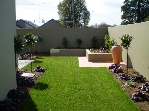 Artistic Beautiful Modern Garden Concept Idea With Simple