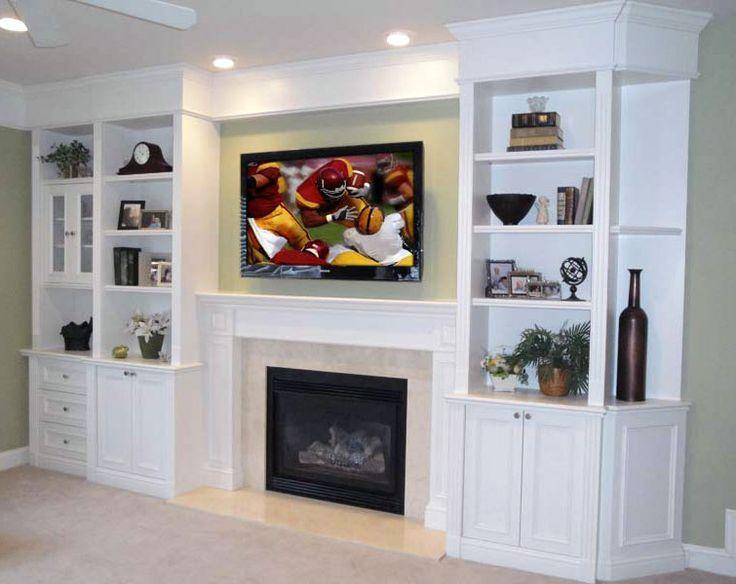 Built In Shelving, Tv Over