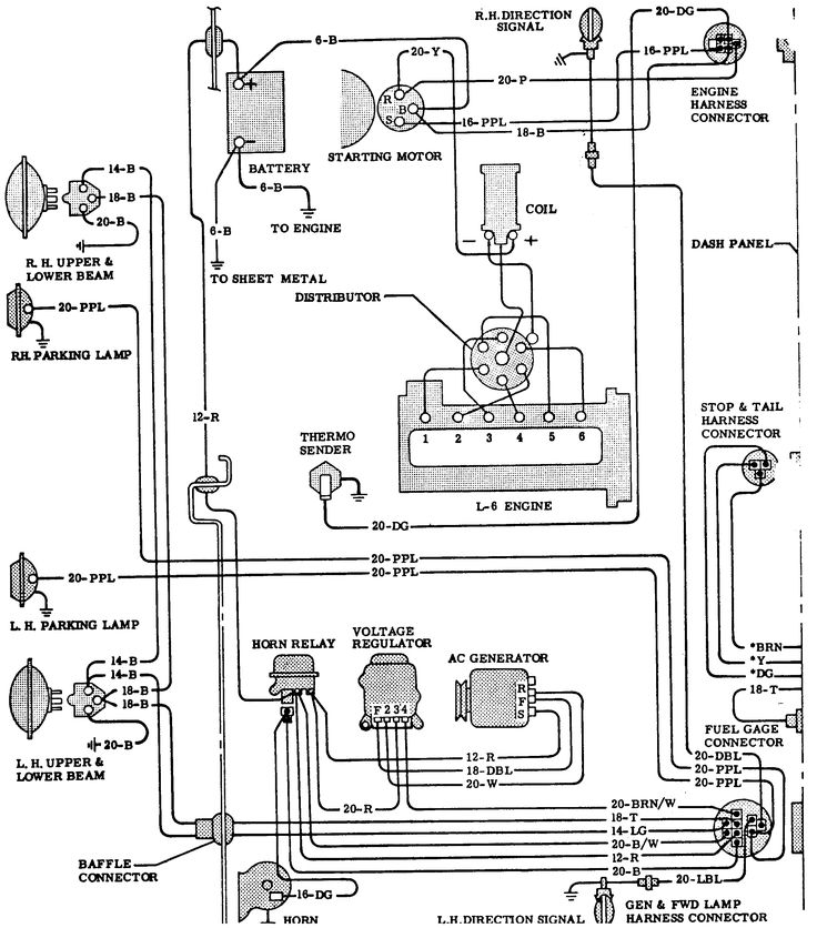 light wiring diagram gm truck
