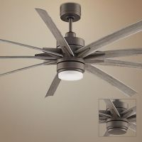 """84"""" Odyn Matte Greige LED Outdoor Ceiling Fan   Home ..."""