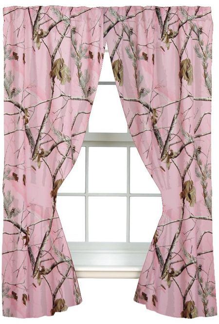 Girls Realtree® AP Pink Camo Curtains Love This Love And Girls