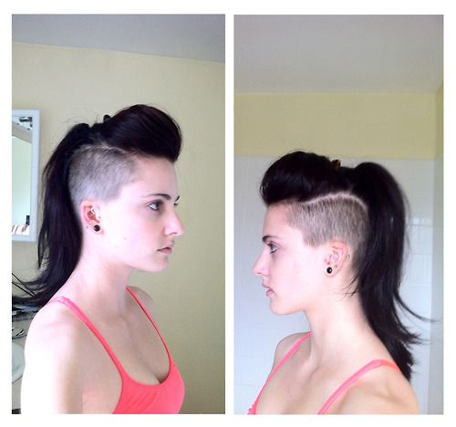 25 Best Ideas About Shaved Long Hair On Pinterest Long Undercut