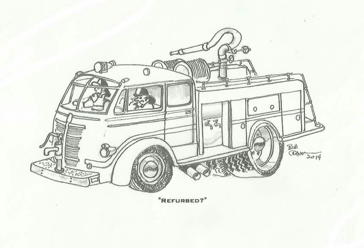 17 Best images about Fire Trucks (Drawings) on Pinterest