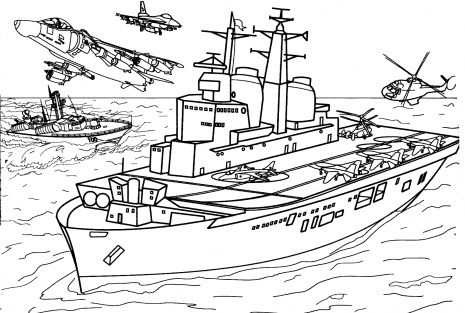 British Aircraft Carrier Invisible printable coloring
