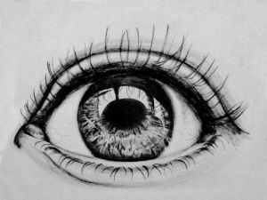 eye close sketch drawing pencil eyes drawings easy draw sketches sepia gruesome illustrated items closeup faces realistic idea