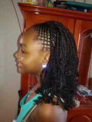 kinky twist with intricate braids