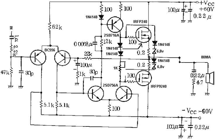 30w guitar amplifier electronic diagram