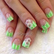 3d flower gel spring nail design