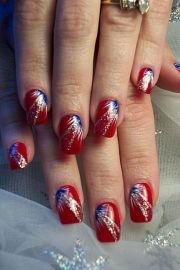 cool 4th of july nails red