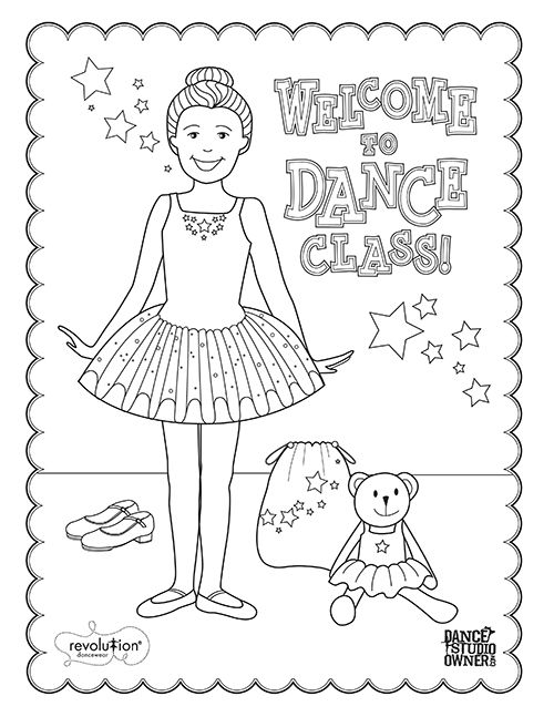 FREE Printable Dance class coloring pages for kids and