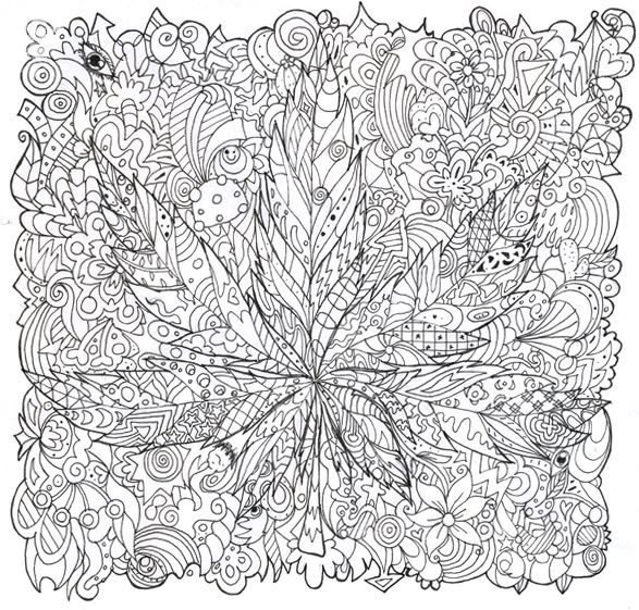 trippy mushroom coloring pages  psychedelic mushroom