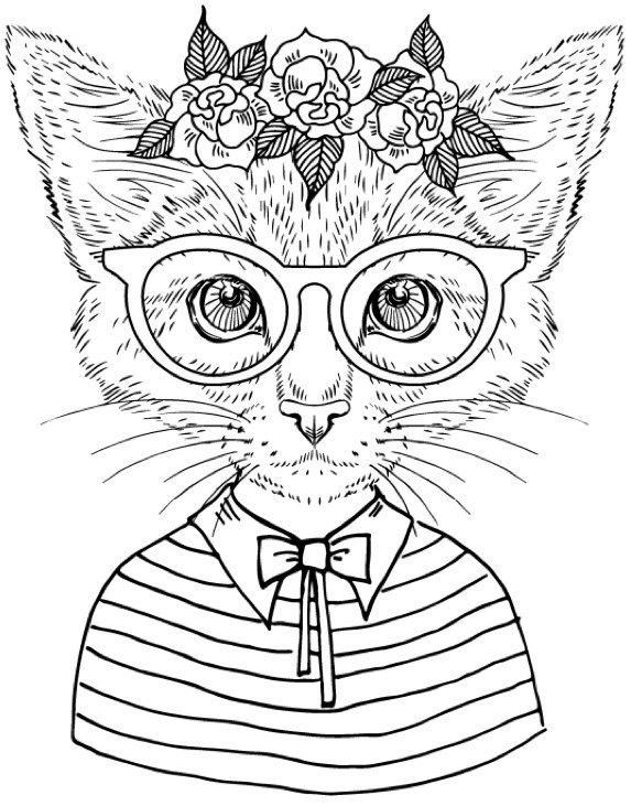 253 best images about Coloring Pages for Adults on Pinterest