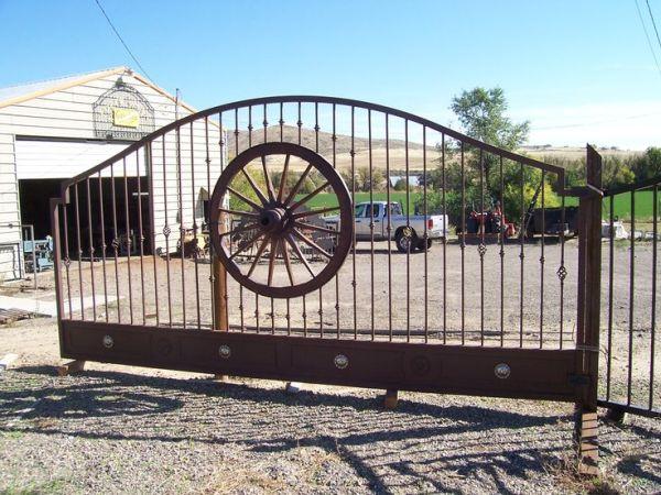 security gates  Iron Works Custom Wrought Iron Gates